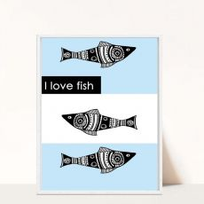 Plakat I love fish