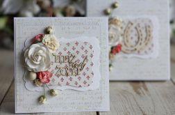 Romantyczna kartka ślubna z pudełkiem 1