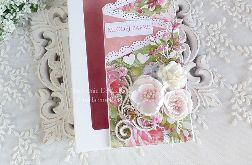 Ślubna kartka kaskadowa w pudełku 451