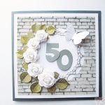 Kartka URODZINOWA białe róże