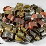 Metalowa bransoleta - smocza łuska 151223-08 - Metalowe bransoletki