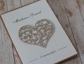 Rustykalne zaproszenia ślubne