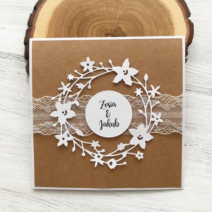 Zaproszenie na ślub- z wiankiem