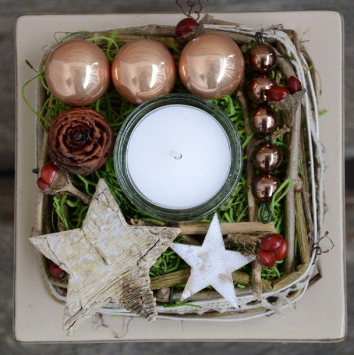 kompozycja świąteczna w naczyniu