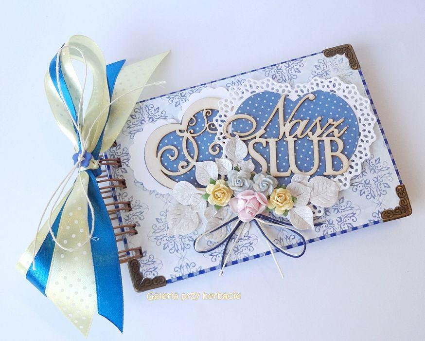 Album ślubny 15x10 cm niebieski