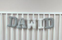 Literki szyte np. Dawid 16 cm