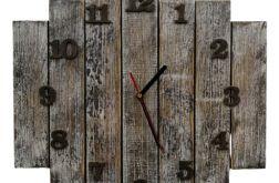 Zegar ścienny drewniany postarzany