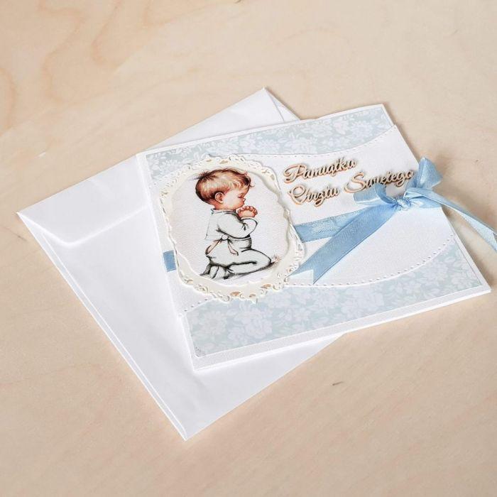 Kartki na chrzest,kartka na chrzest- chłopiec - Pamiątka Chrztu Świętego, Pamiatka Chrztu  Św.