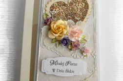 Kartka ślubna z sercem w pudełku #2