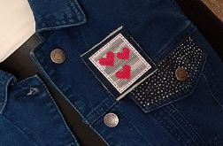 4634 broszka haft krzyżykowy rękodzieło