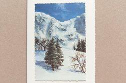 Kartka świąteczna - zimowy pejzażyk nr 24