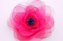 Broszka kwiat - fuksja 12 cm