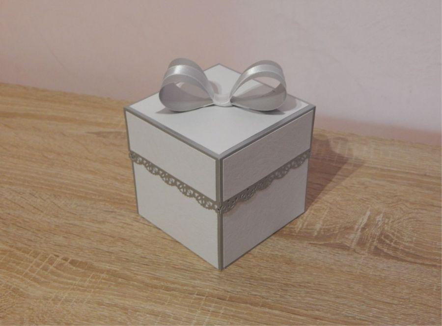 Pamiątka Chrztu- Exploding Box srebrny