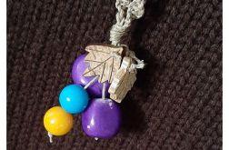 4469 naszyjnik boho naturalny kamienie