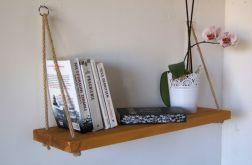Pojedyncza półka na linach z drewna