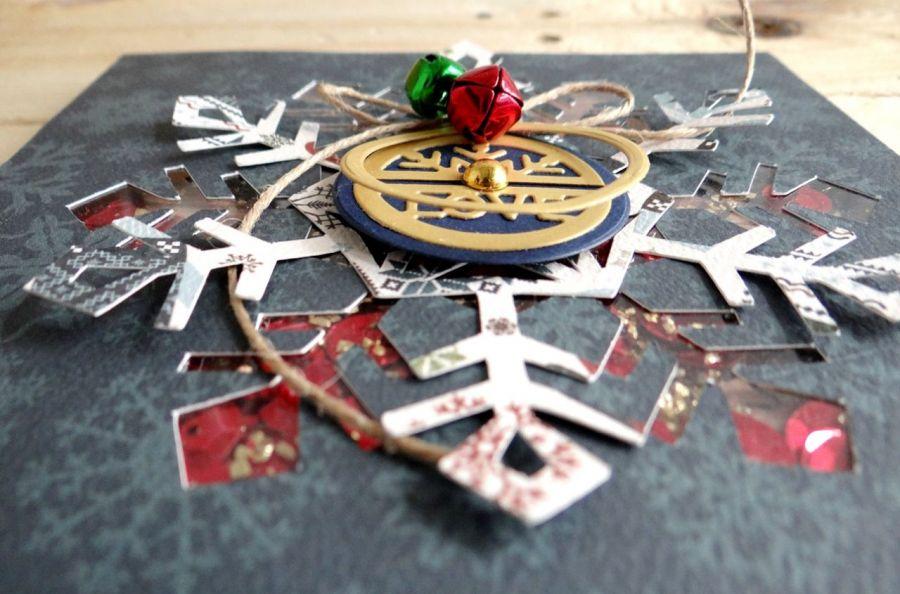 Kartka świąteczna ŚNIEŻYNKA SHAKER - Detal1