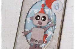 Urodzinowa kartka z robotem