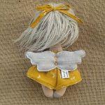 ANIOŁEK lalka - dekoracja tekstylna, OOAK /11 - tak wyglądam z tyłu