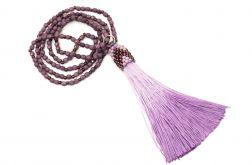 Długi naszyjnik z chwostem fire polish fiolet