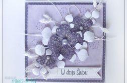 Kartka na Ślub z kwiatami 6