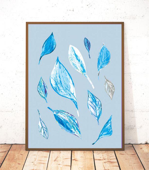 pastelowy plakat do pokoju zima 21x30  cm