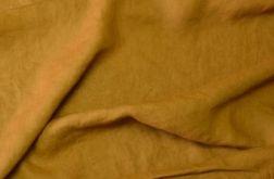 Zasłony lniane kolor musztardowy