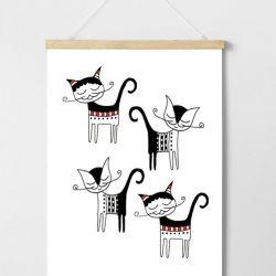Plakat Radosne kotki