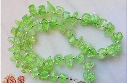 Naszyjnik z zielonego kwarcu górskiego