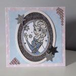 Kartka na urodziny Elsa Kraina Lodu -