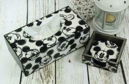 chustecznik i podkładki- Myszka Miki