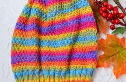 Ciepła zimowa czapka kolorowa