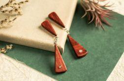 Kolczyki z czerwonego drzewa sandałowego