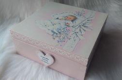 szkatułka - pamiątka Chrztu Św. dla dziewczynki