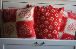 Poszewka dekoracyjna - duże norweskie serca