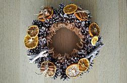 Wieniec świąteczny stroik rustykalny