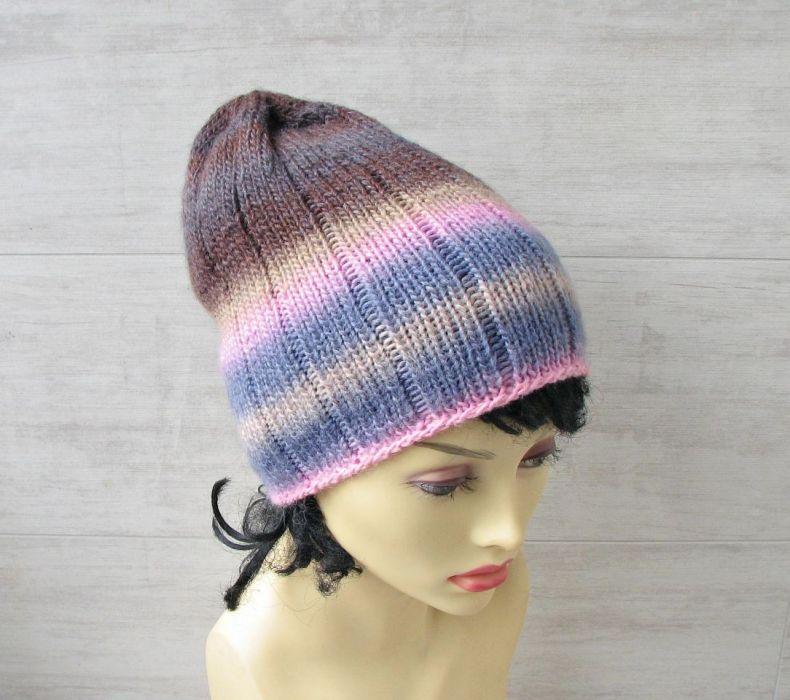 Lekka zimowa czapka zimowa kolorowa. - czapka z wełny