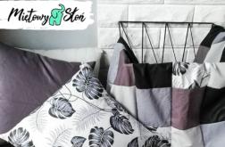 Patchworkowa narzuta na łóżko ~160x200~ bl&wh