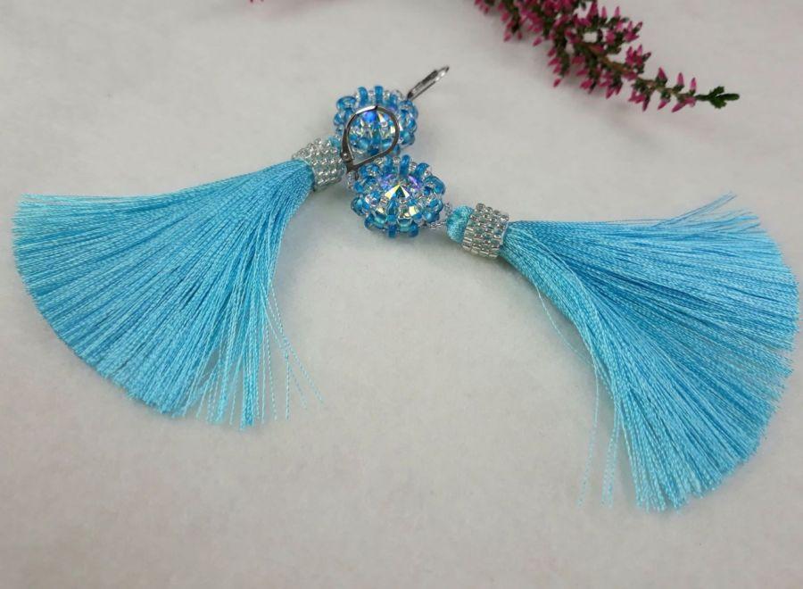 kolczyki niebieski -
