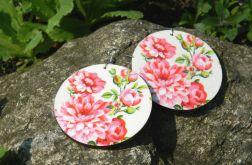 Kolczyki wiosenne - Róże Piwonie