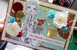 Kartka dla nastolatki na rowerze UDP 044