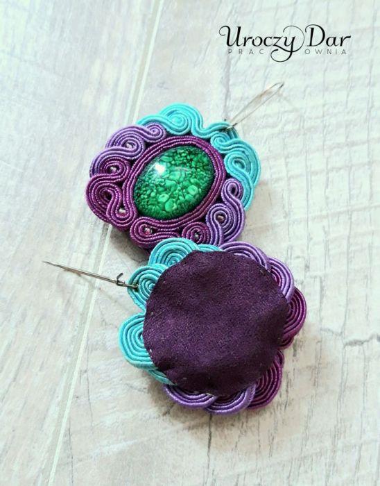Kolorowe kolczyki Jocelin - fioletowe kolczyki