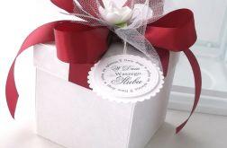 Pudełko na ślub Bordo i krem