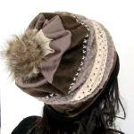 czapka beanie w brązach
