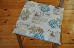 4 siedziska - listy i pastelowe kwiaty