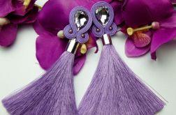Soutache sutasz kolczyki fioletowe lawendowe