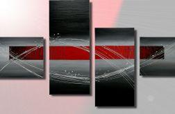 Obraz recznie malowany ABSTRAKCJA NOWOCZESNA ! 150x80cm