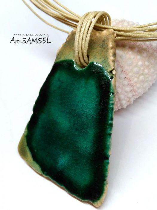 Wisior ceramiczny - turkus