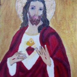 Serce Jezusa - ikona