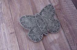 Nomma Spineczka do włosów Motylek C.szary