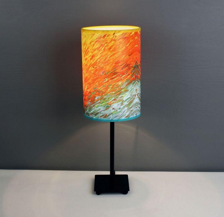 Soczysta lampa żYWIOŁOWOŚĆ, abażur + podstawa - Daj się zainspirować